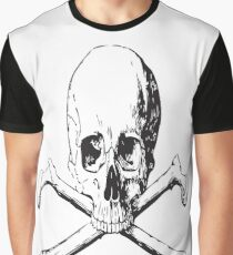 SKULL AND CROSSBONES Pop Art Graphic T-Shirt
