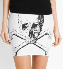 SKULL AND CROSSBONES Pop Art Mini Skirt