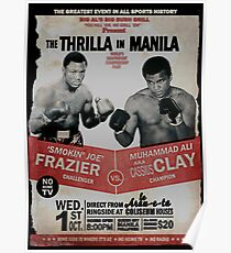 Póster The Thrilla en Manila - FRAZIER VS ALI