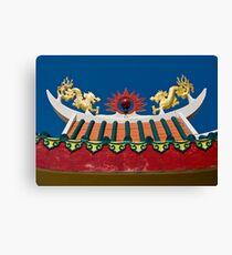 Temple Dragons Canvas Print