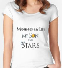 Moon of My Life Sun and Stars Women's Fitted Scoop T-Shirt