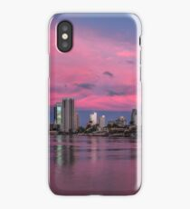 Amazing Pink Sunset over Surfers Paradise iPhone Case