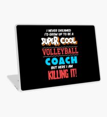 Funny Volleyball Coach Apparel Laptop Skin