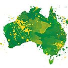 Map of Australia by azpictured