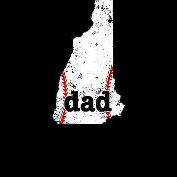 Softball Dad T Shirt New Hampshire Baseball Dad Shirt by shoppzee