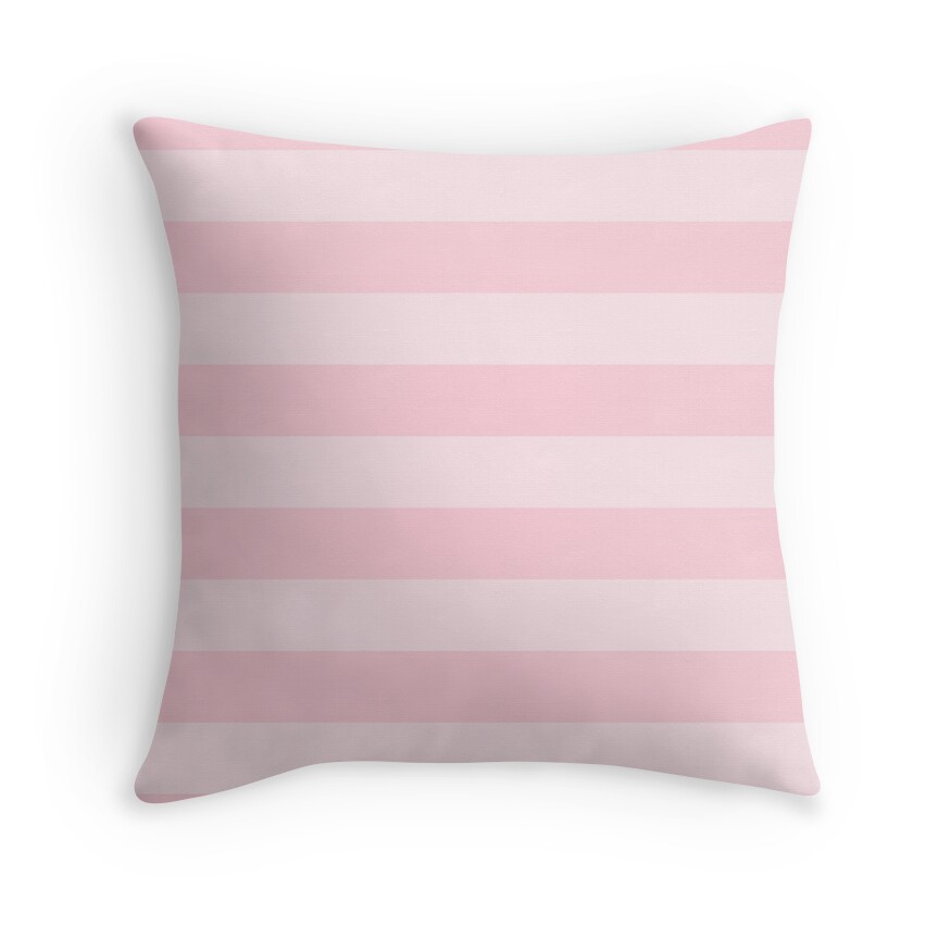 Light Soft Pastel Pink Cabana Tent Stripes