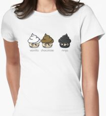 Cupcake Ninja Womens Fitted T-Shirt