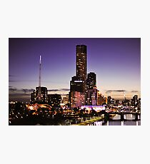Melbourne Night Sky Photographic Print