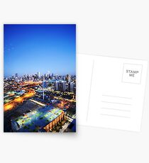 Melbourne Night Scape Postcards