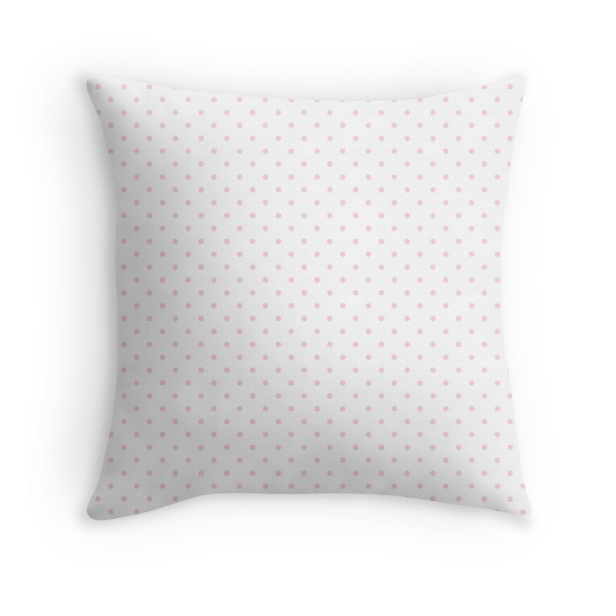 Light Soft Pastel Pink Mini Polka Dots on White