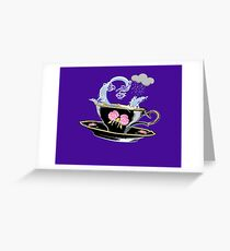 Storm in a Black China Teacup Greeting Card