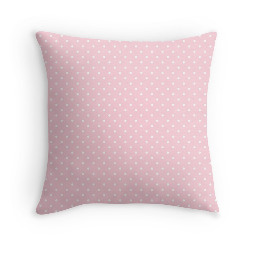 Mini White Polka Dots on Soft Pastel Pink
