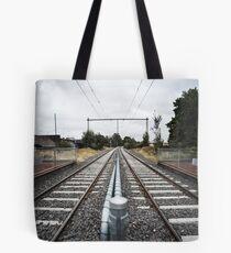Train Tracks Tote Bag