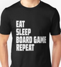 Eat Sleep Board Game Repeat Unisex T-Shirt