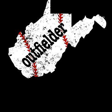 West Virginia Baseball Outfielder Softball Outfield Shirt by shoppzee