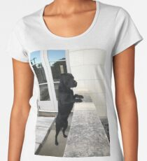 Black Labrador Standing Women's Premium T-Shirt