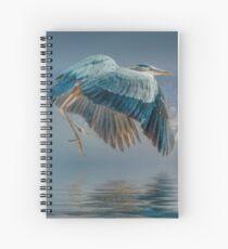 Misty Dawn Heron Spiral Notebook