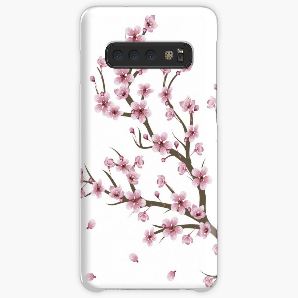Blühender Sakura Branch 4 Hülle & Klebefolie für Samsung Galaxy