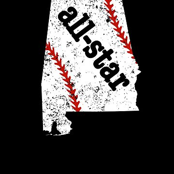 All Star Youth Baseball Shirt Alabama All Star Softball by shoppzee