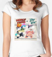 """Horus Hippo in """"Shop 'Till You Drop"""" Fitted Scoop T-Shirt"""