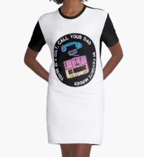 You're in a Cult Call Your Dad Graphic T-Shirt Dress