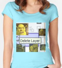 Delete Layer Women's Fitted Scoop T-Shirt