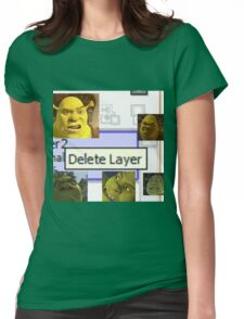 Delete Layer Womens Fitted T-Shirt