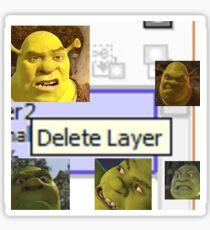 Delete Layer Sticker