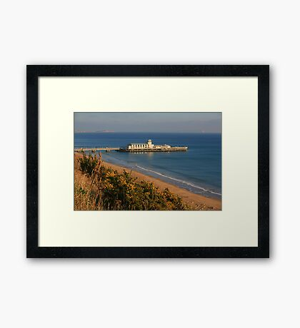 Pier from the West Cliff Framed Print