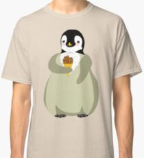 Cute penguin eating ice cream  Classic T-Shirt