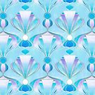 Blue, Purple & Silver Art Deco Pattern by micklyn