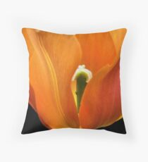 orange flame Throw Pillow
