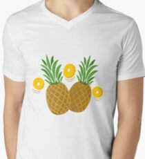Fun and Funky Pineapples V-Neck T-Shirt