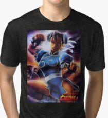 Chun-Li Street Fighter 2 Fan print Tri-blend T-Shirt
