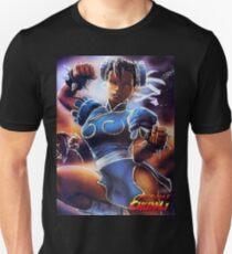 Chun-Li Street Fighter 2 Fan print Unisex T-Shirt