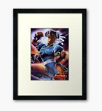 Chun-Li Street Fighter 2 Fan print Framed Print