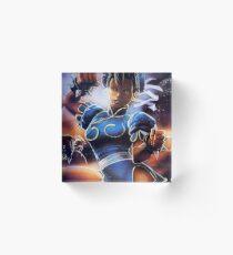 Chun-Li Street Fighter 2 Fan print Acrylic Block