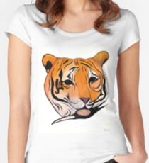 Bengal Tiger Women's Fitted Scoop T-Shirt