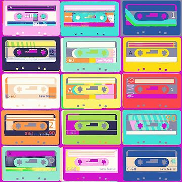 All in the mix - retro music cassette tapes by Carolynne