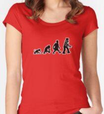 evolution darwin robot Women's Fitted Scoop T-Shirt