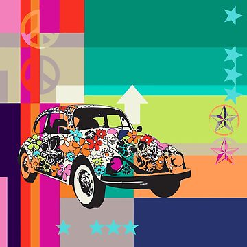 Flower power - peace, love, hippies and the 70's by Carolynne
