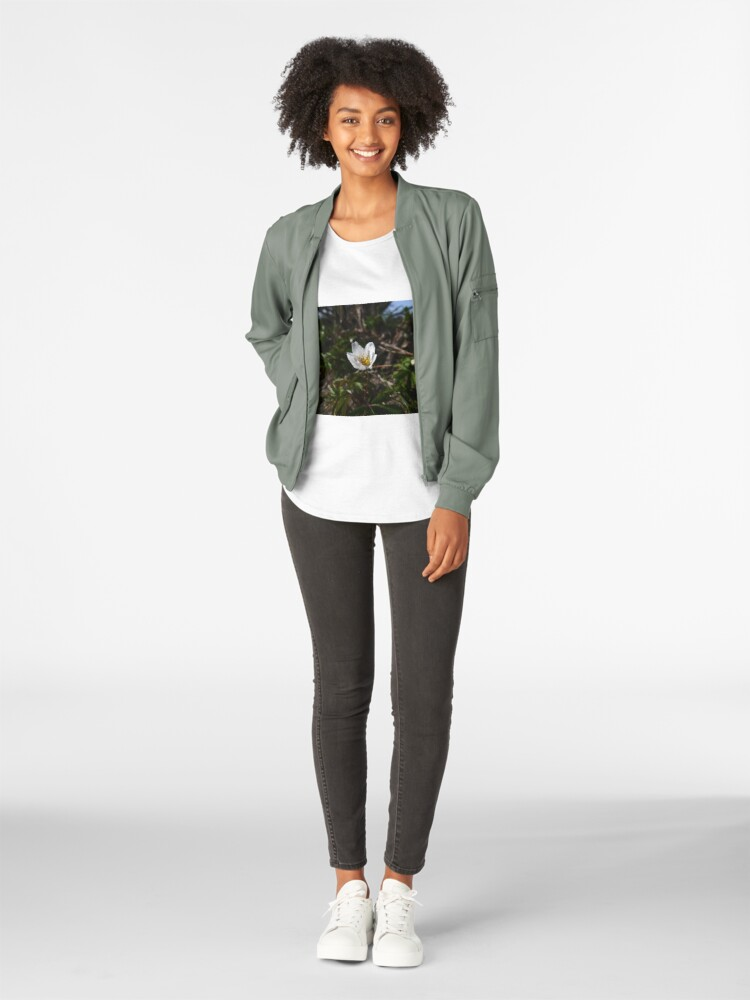 Alternate view of Wood Anemone (Anemone nemorosa) Women's Premium T-Shirt