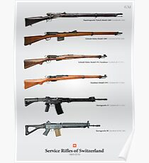 Service Rifles of Switzerland (English) Poster