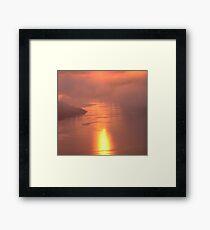 Pale Pink Sea Framed Print