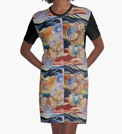 universe Graphic T-Shirt Dress