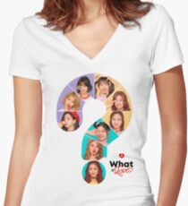 WHAT IS L TWICE Women's Fitted V-Neck T-Shirt