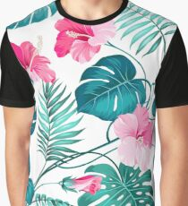 Tropical flower Graphic T-Shirt