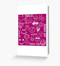 Happy Faces Grußkarte