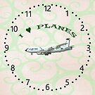 I Love Planes - KC135A Stratotanker clock by ipgphotography