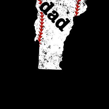 Softball Dad Shirt Vermont Dads Baseball Shirt Gift by shoppzee